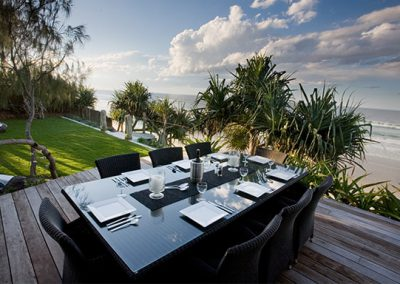 Beachfront dining _ Wholesome Life retreats